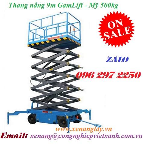 Thang nâng 9m GamLift - Mỹ 500kg