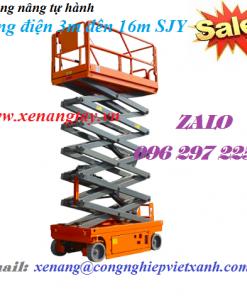 Thang nâng tự hành kéo tay bằng điện 3m đến 16m SJY