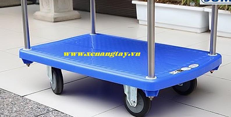 Xe đẩy 2 tầng mặt bàn nhựa 250kg