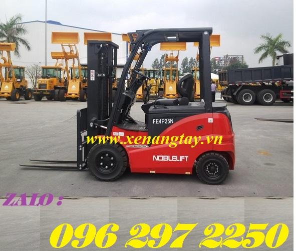 Xe nâng điện ngồi lái 2500kg nâng cao 3m Noblelift