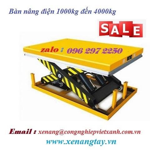 Bàn nâng điện 1000kg đến 4000kg model VT014