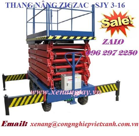 Thang nâng người ziczac 3m-16m SJY