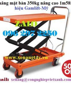 Xe nâng mặt bàn 350kg nâng cao 1m585 hiệu Gamlift-Mỹ