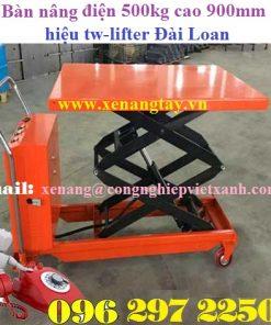 Bàn nâng tay điện500kg cao 900mm hiệu tw-lifter Đài Loan