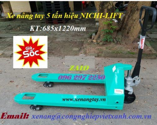 Xe nâng tay 5 tấn hiệu NICHI-LIFT