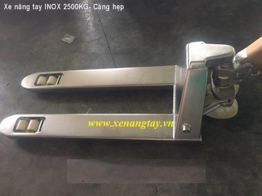 Xe nâng tay inox 2500kg hiệu NICHI-LIFT Nhật Bản