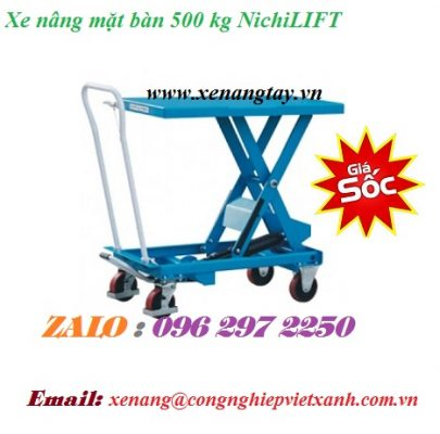 Xe nâng mặt bàn 500 kg NichiLIFT