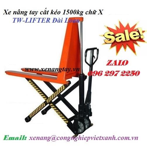 Xe nâng tay cắt kéo 1.5 tấn chữ X TW-LIFTER