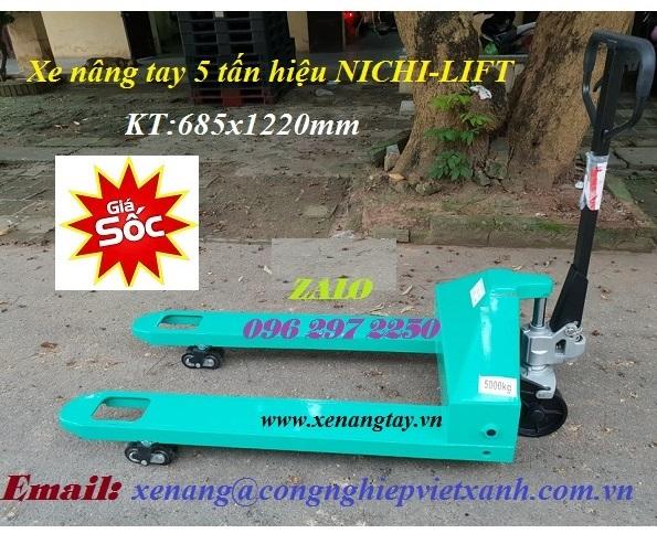 Xe nâng tay 5000 kg hiệu NICHI-LIFT