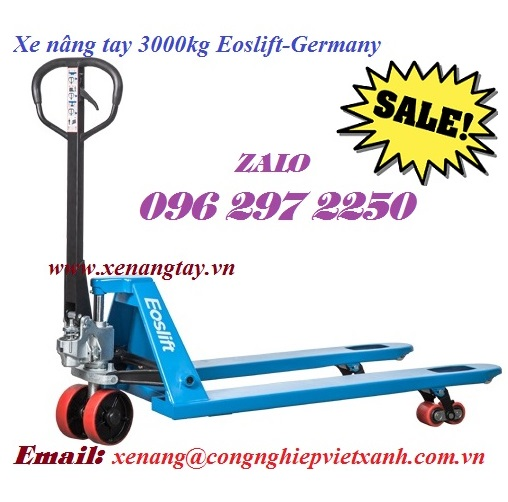 Xe nâng tay 3000kg Eoslift-Germany