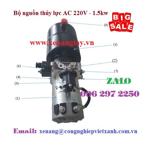 Bộ nguồn thủy lực AC 220V – 1.5kwBộ nguồn thủy lực AC 220V – 1.5kw