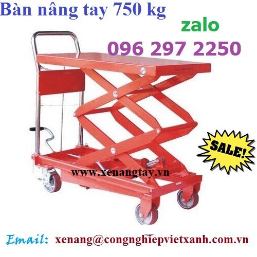 Xe nâng bàn 750kg cao 1500mm