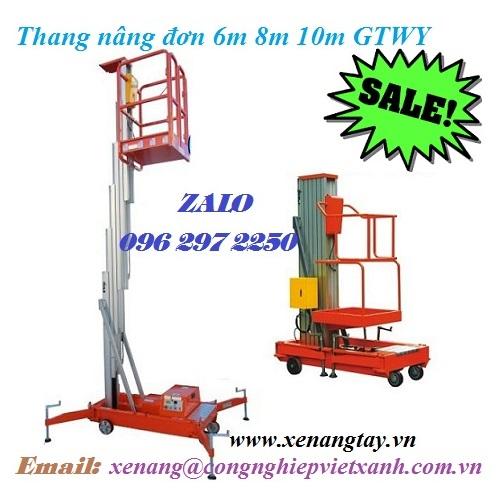 Thang nâng đơn 6m 8m 10m GTWY