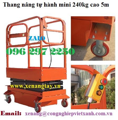 Thang nâng tự hành mini 240kg cao 5m