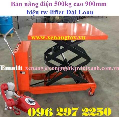 Bàn nâng điện 500kg cao 900mm
