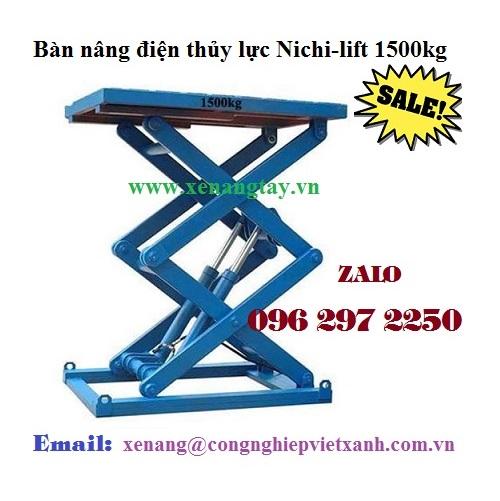 Bàn nâng điện thủy lực Nichi-lift 1500kg