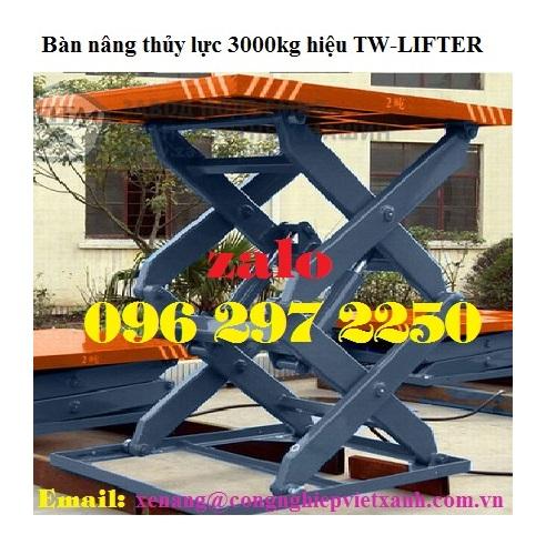 Bàn nâng thủy lực 3000kg hiệu TW-LIFTER