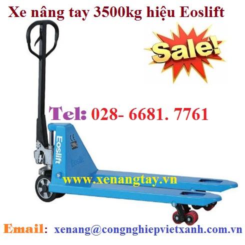 Xe nâng tay 3500kg hiệu Eoslift