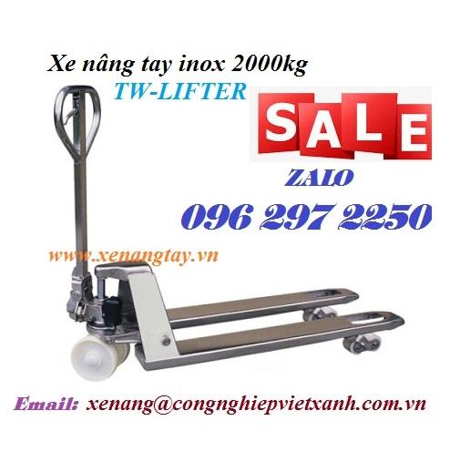 Xe nâng tay inox 2000kg TW-LIFTER