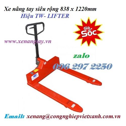 Xe nâng tay siêu rộng 838 x 1220mm TW- LIFTER