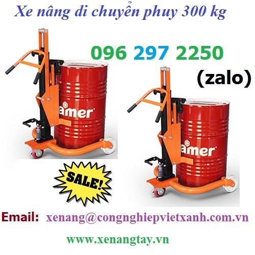 Xe nâng di chuyển phuy 300 kg