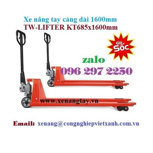 Xe nâng tay càng dài 1600mm (685x1600mm) TW-LIFTER