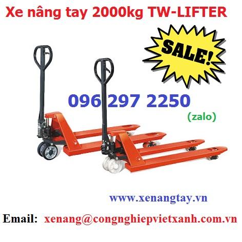 Xe nâng tay 2000kg ( 2 tấn ) TW-LIFTER